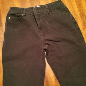 Eric Casual Petites Chocolate Brown Jeans, Size 6P